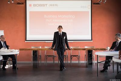 BBS students at Bobst Italia, Casale Monferrato
